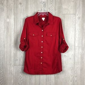 Converse Red Button Down Shirt